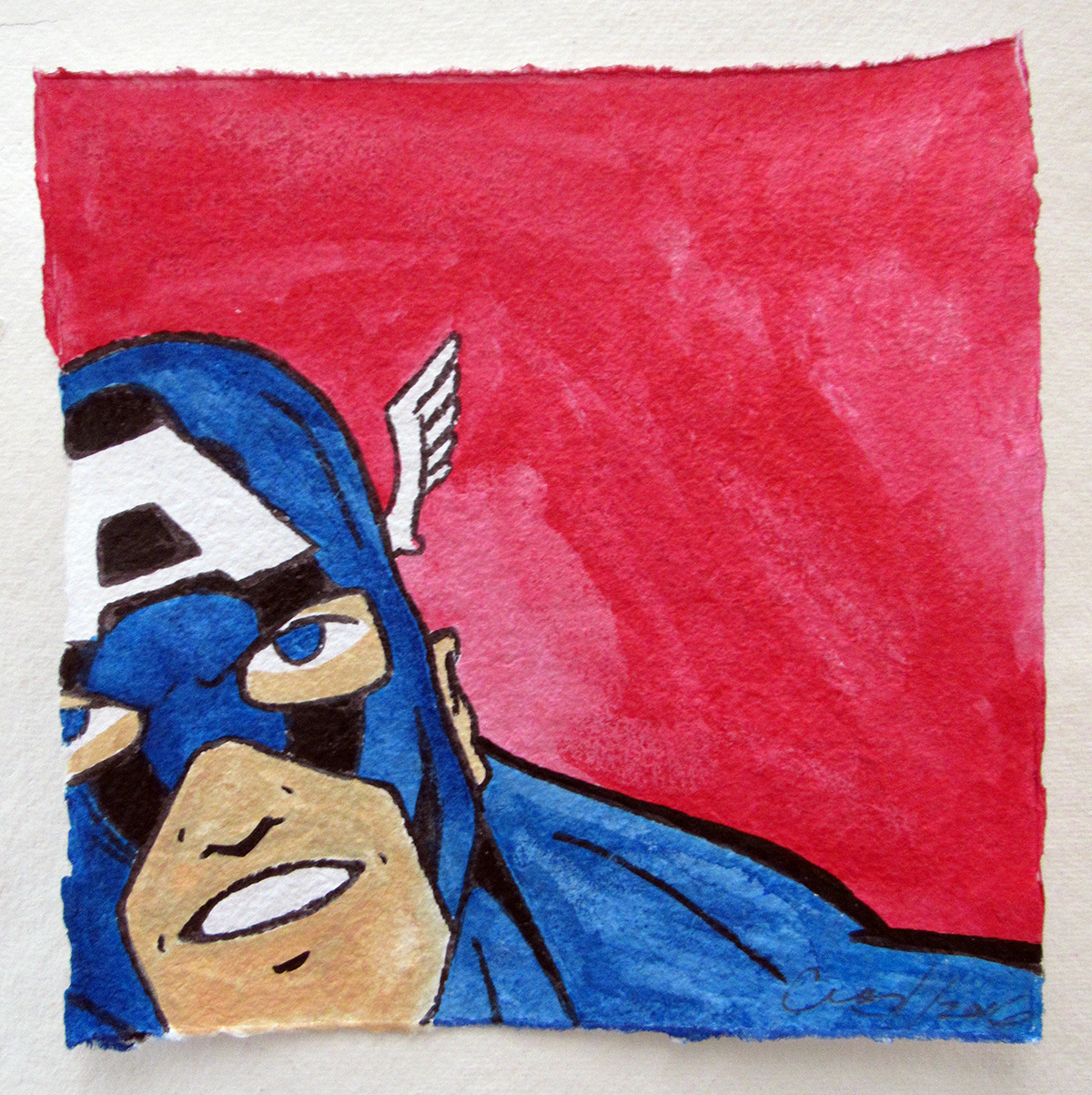 Captain America - Aquarelle, 2016